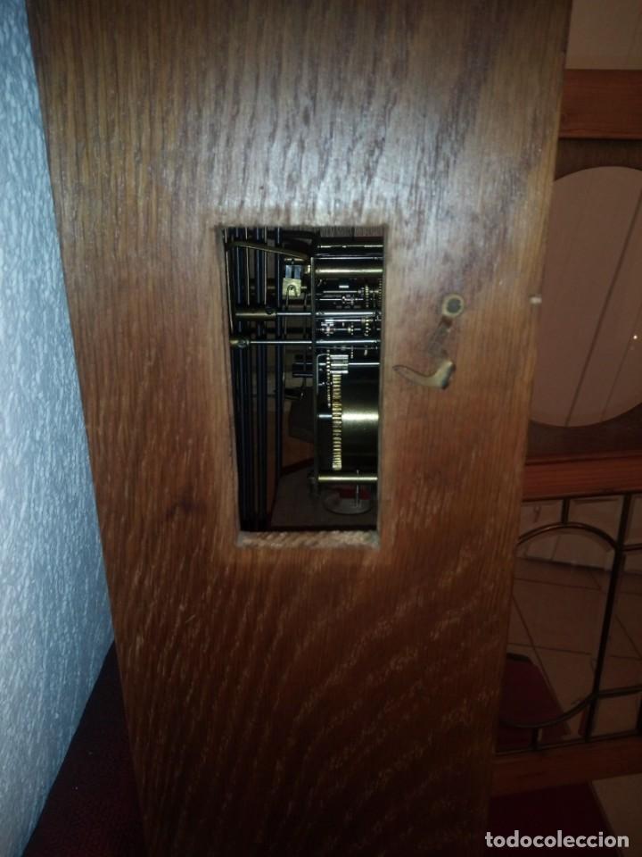 Relojes de pared: antiguo reloj carga manual fms alemania,funcionando con su llave original,puerta con vidriera - Foto 10 - 189141605