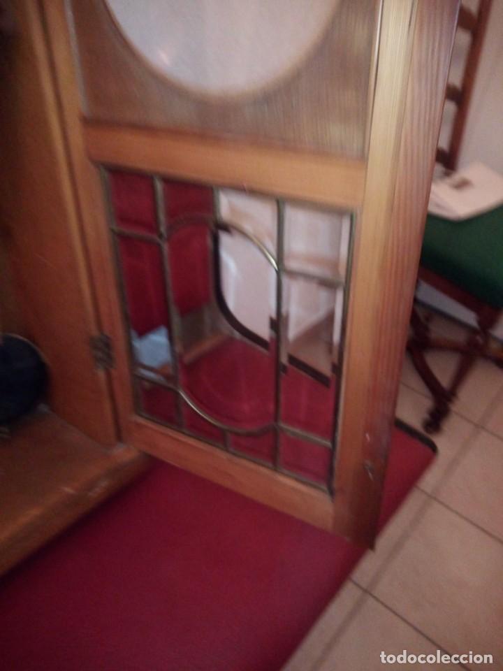 Relojes de pared: antiguo reloj carga manual fms alemania,funcionando con su llave original,puerta con vidriera - Foto 16 - 189141605