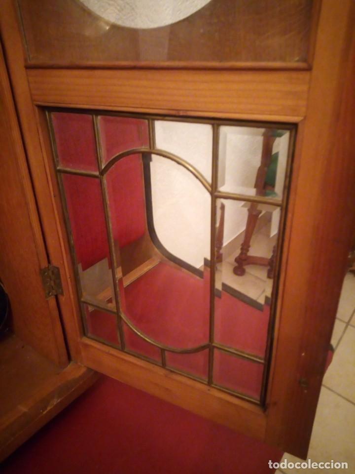 Relojes de pared: antiguo reloj carga manual fms alemania,funcionando con su llave original,puerta con vidriera - Foto 17 - 189141605