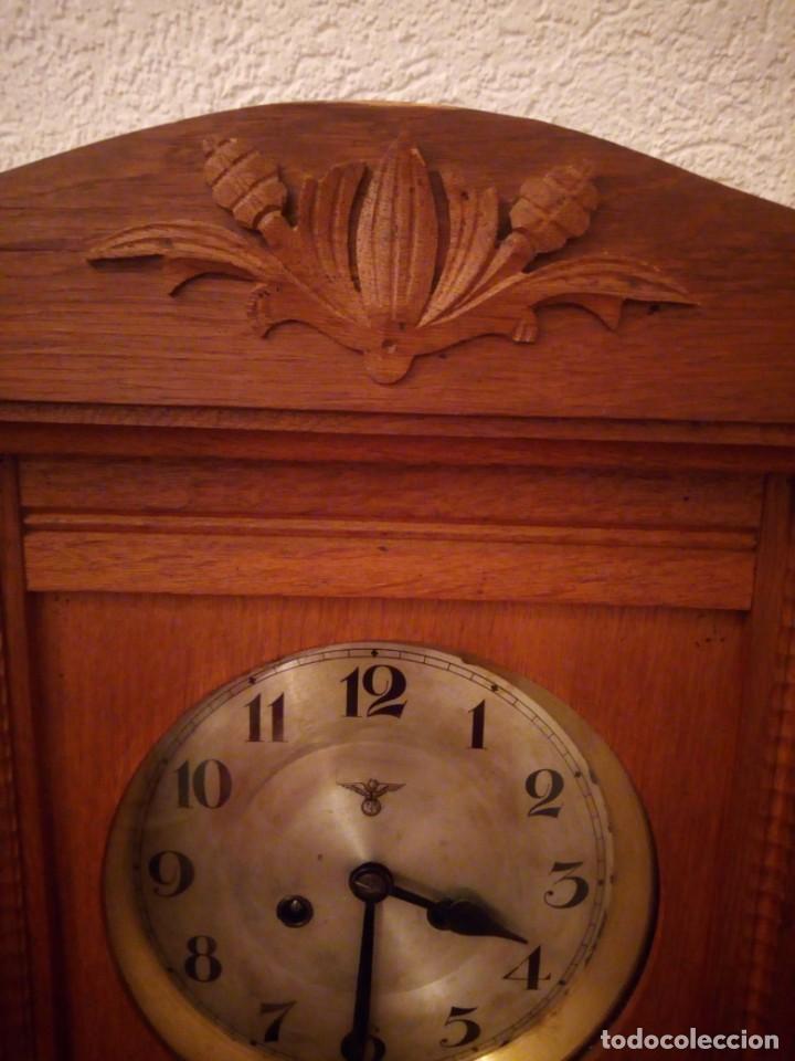 Relojes de pared: antiguo reloj carga manual fms alemania,funcionando con su llave original,puerta con vidriera - Foto 21 - 189141605
