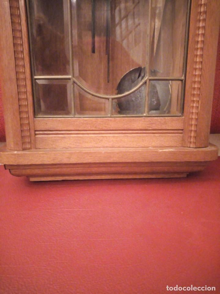 Relojes de pared: antiguo reloj carga manual fms alemania,funcionando con su llave original,puerta con vidriera - Foto 22 - 189141605