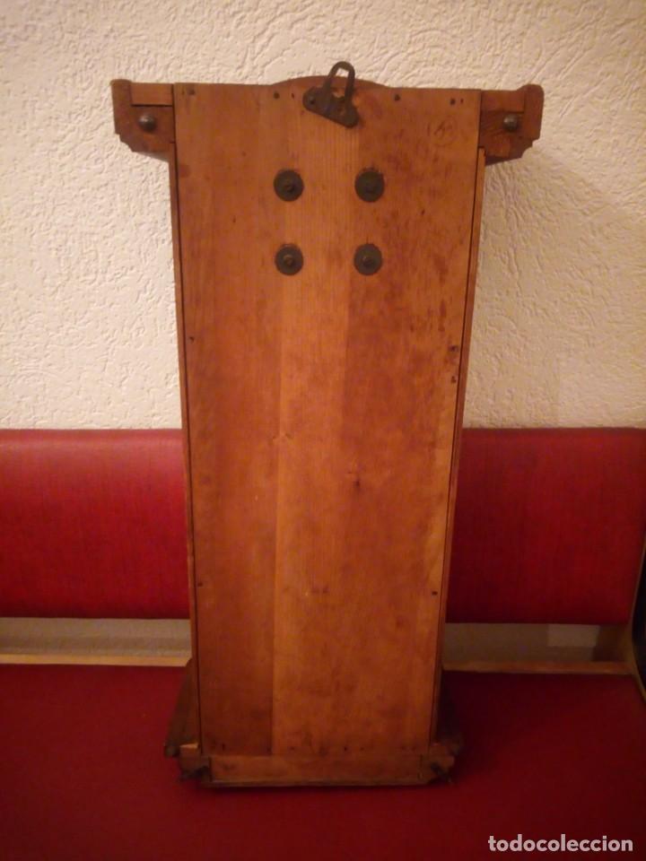 Relojes de pared: antiguo reloj carga manual fms alemania,funcionando con su llave original,puerta con vidriera - Foto 23 - 189141605