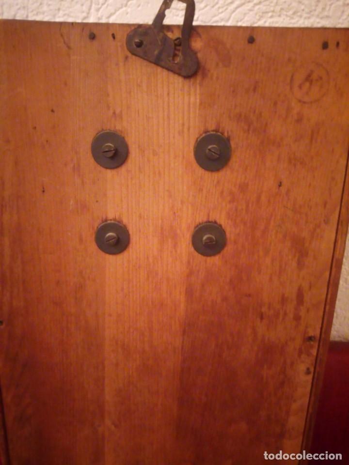 Relojes de pared: antiguo reloj carga manual fms alemania,funcionando con su llave original,puerta con vidriera - Foto 24 - 189141605