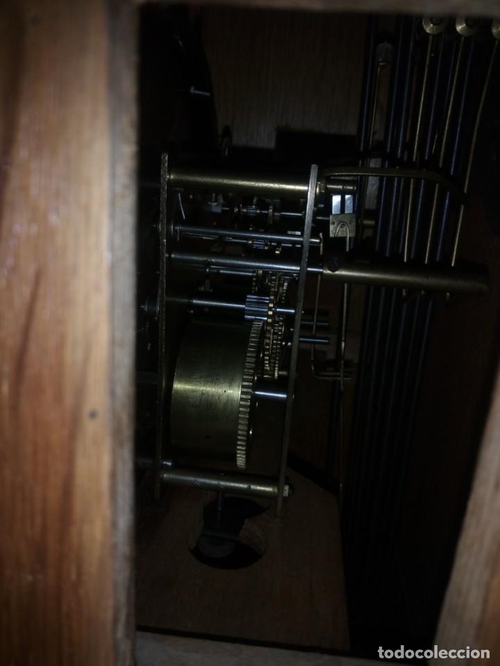 Relojes de pared: antiguo reloj carga manual fms alemania,funcionando con su llave original,puerta con vidriera - Foto 25 - 189141605