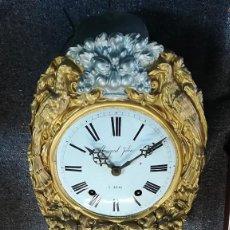 Relojes de pared: RELOJ MOREZ DORADO DE PARED MIGUEL JULIA 'A ALCOY . Lote 189250912