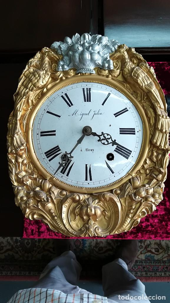 Relojes de pared: RELOJ MOREZ DORADO DE PARED MIGUEL JULIA A ALCOY - Foto 3 - 189250912