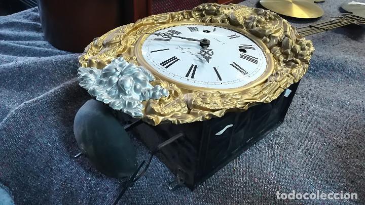 Relojes de pared: RELOJ MOREZ DORADO DE PARED MIGUEL JULIA A ALCOY - Foto 4 - 189250912