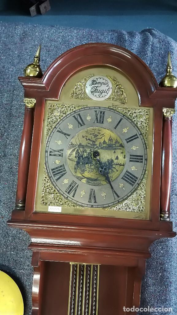 Relojes de pared: RELOJ DE PARED ESTILO INGLÉS TEMPUS FUGIT - Foto 2 - 189252101