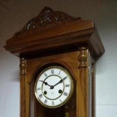 Relojes de pared: RELOJ DE PARED JUNGHANS (MAQUINARIA ALEMANA ORIGINAL) DE MÁS DE 100 AÑOS DE ANTIGÜEDAD. Lote 189535821