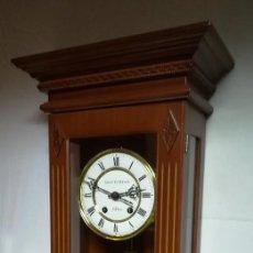 Relojes de pared: RELOJ DE PARED JUNGHANS (MAQ. ALEMANA ORIGINAL) DE MÁS DE 100 AÑOS DE ANTIGÜEDAD (LUCAS ABASOLO). Lote 189538256