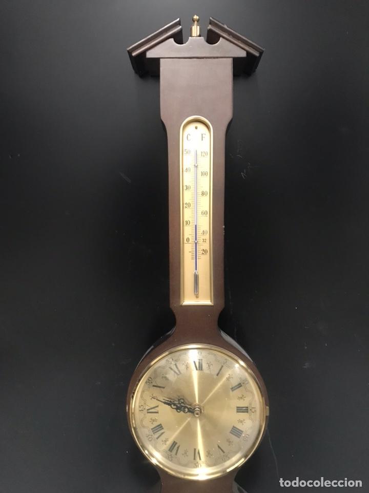 Relojes de pared: Antiguo reloj barómetro - Foto 3 - 189593827