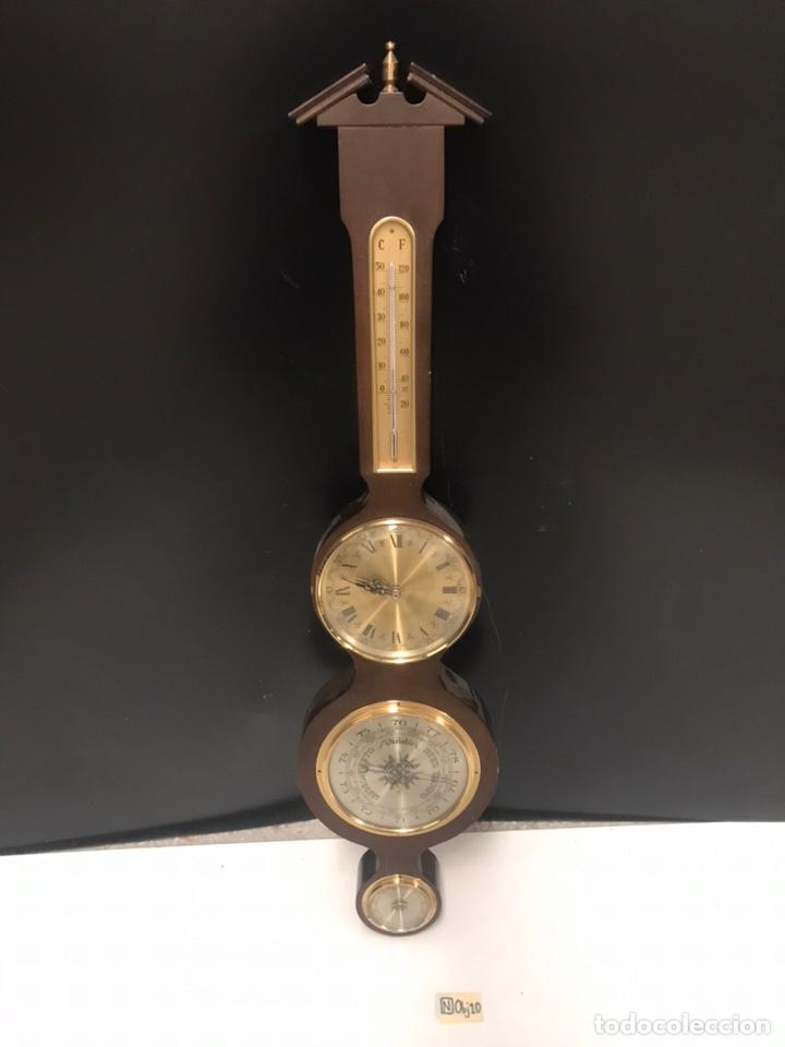 ANTIGUO RELOJ BARÓMETRO (Relojes - Pared Carga Manual)