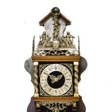 Relojes de pared: ANTIGUO RELOJ DE PARED, DE ORIGEN HOLANDES, DE CUERDA MANUAL, FUNCIONANDO PERFECTAMENTE. Lote 189607615