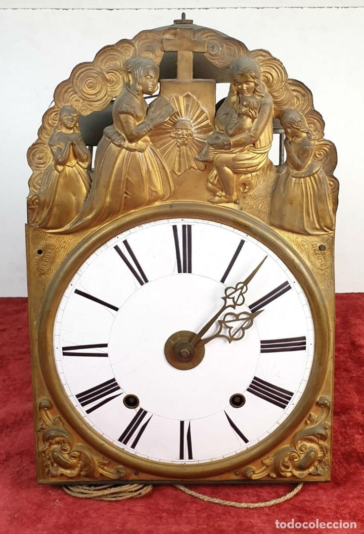 Relojes de pared: RELOJ MOREZ DE PARED. SONERÍA COMPLEJA. 4 CAMPANAS. SIGLO XIX. - Foto 2 - 189747973