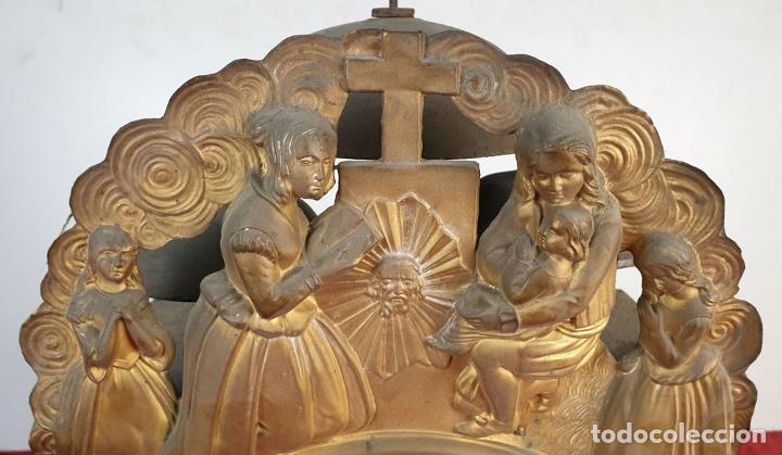 Relojes de pared: RELOJ MOREZ DE PARED. SONERÍA COMPLEJA. 4 CAMPANAS. SIGLO XIX. - Foto 4 - 189747973