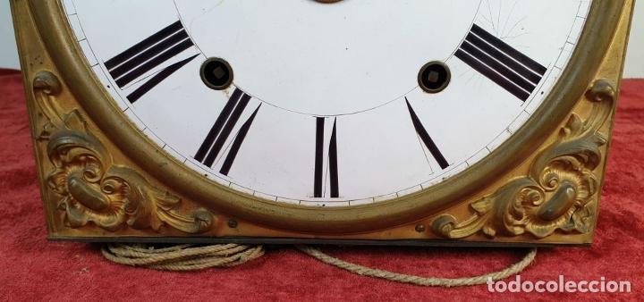 Relojes de pared: RELOJ MOREZ DE PARED. SONERÍA COMPLEJA. 4 CAMPANAS. SIGLO XIX. - Foto 5 - 189747973