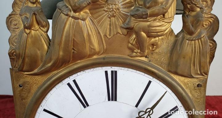 Relojes de pared: RELOJ MOREZ DE PARED. SONERÍA COMPLEJA. 4 CAMPANAS. SIGLO XIX. - Foto 6 - 189747973