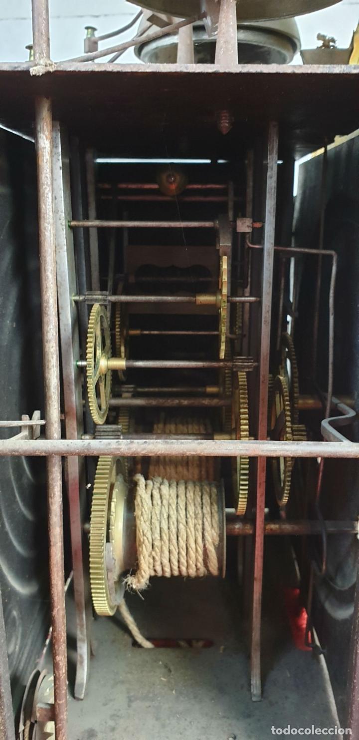 Relojes de pared: RELOJ MOREZ DE PARED. SONERÍA COMPLEJA. 4 CAMPANAS. SIGLO XIX. - Foto 12 - 189747973