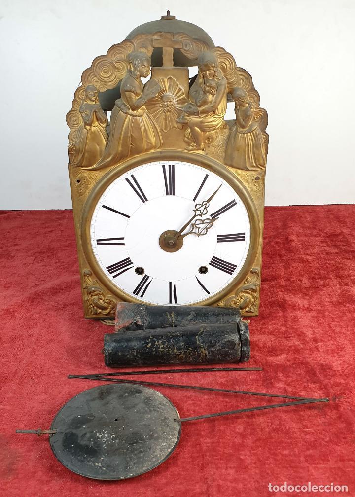 RELOJ MOREZ DE PARED. SONERÍA COMPLEJA. 4 CAMPANAS. SIGLO XIX. (Relojes - Pared Carga Manual)