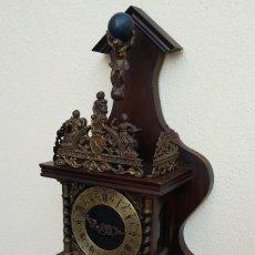 Relojes de pared: ANTIGUO RELOJ DE PARED HOLANDES ZAANSE CLOCK, MAQUINARIA ALEMANA. COMPLETO TODO ORIGINAL FUNCIONA.. Lote 190058873