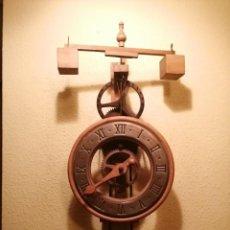 Relojes de pared: RELOJ ESQUELETO DE MADERA MODELO MEDIEVAL DEL SIGLO XIV DEL PRESTIGIOSO FABRICANTE ESPAÑOL ARDAVIN .. Lote 190486117