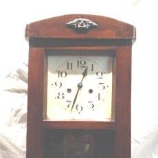 Relojes de pared: RELOJ DE PARED, SONERIA MEDIAS Y HORAS AÑOS 40, COMPLETO FUNCIONA, CUERDA 8 DIAS. Lote 190750602