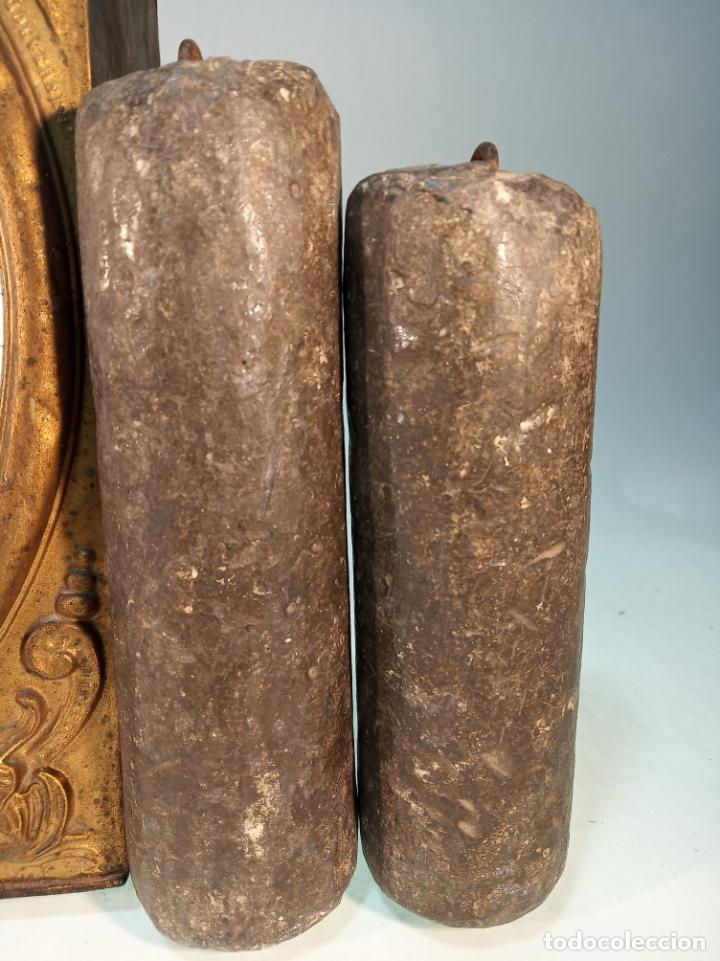 Relojes de pared: Reloj Morez de pared. Péndulo de tijera plegable y grandes pesas de plomo macizas, incluye llave. - Foto 4 - 190936223