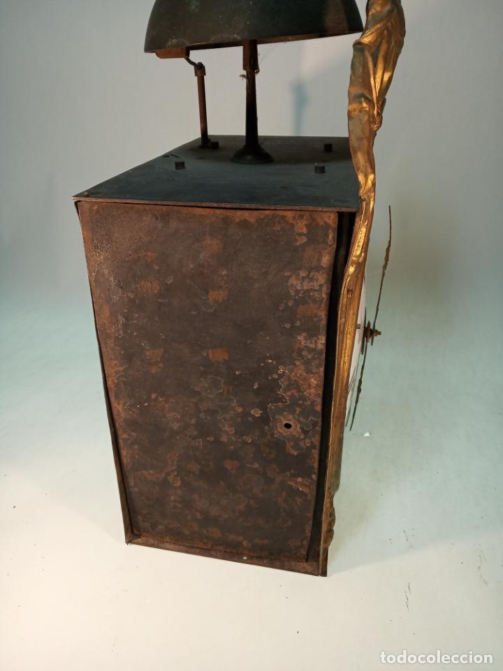 Relojes de pared: Reloj Morez de pared. Péndulo de tijera plegable y grandes pesas de plomo macizas, incluye llave. - Foto 19 - 190936223