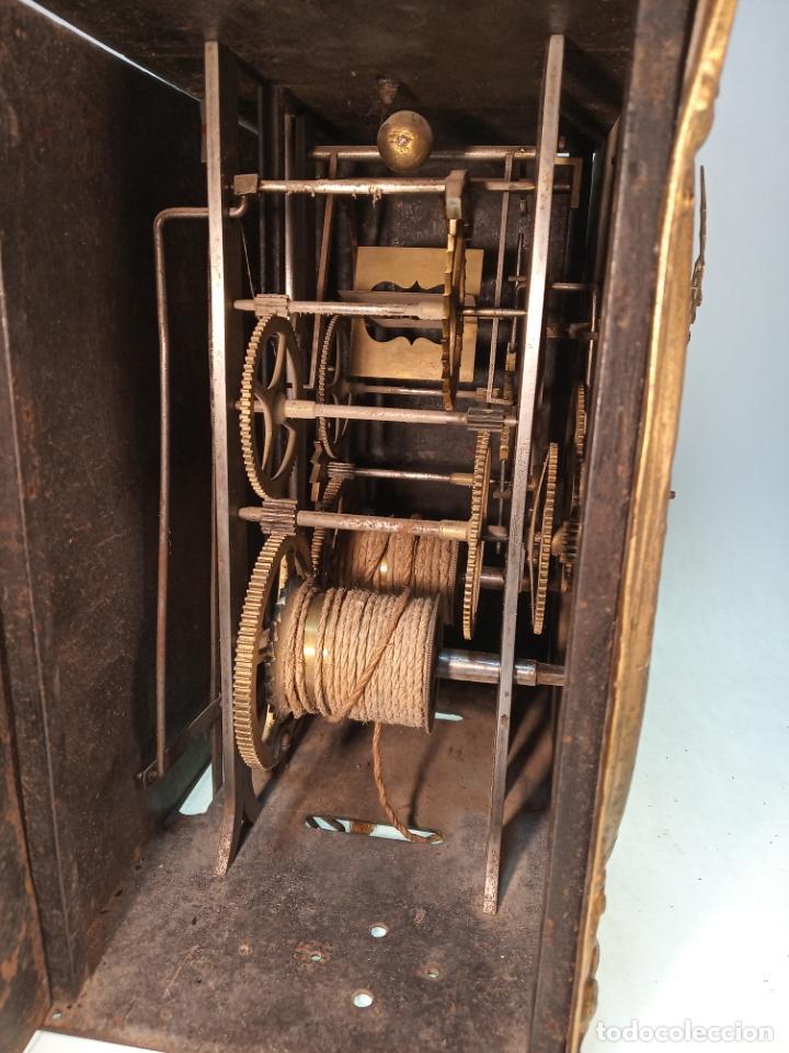 Relojes de pared: Reloj Morez de pared. Péndulo de tijera plegable y grandes pesas de plomo macizas, incluye llave. - Foto 20 - 190936223