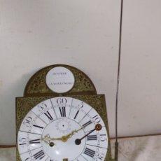 Relojes de pared: IMPRESIONANTE Y RARO RELOJ CON CALENDARIO Y SEGUNDERO CIRCA 1800. Lote 191091633