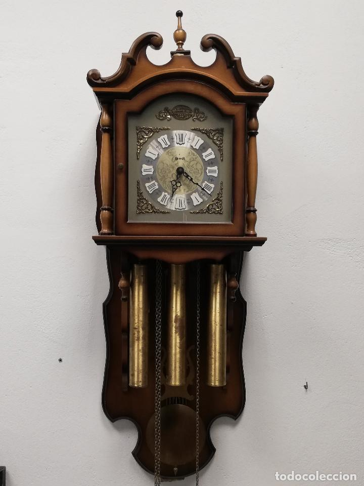 Relojes de pared: Reloj de carrillon Hersa, de pared. - Foto 2 - 191509295