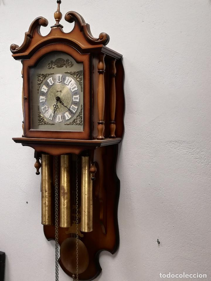 Relojes de pared: Reloj de carrillon Hersa, de pared. - Foto 5 - 191509295