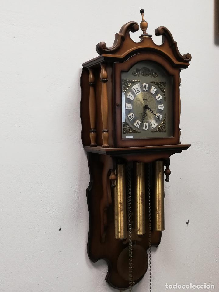 Relojes de pared: Reloj de carrillon Hersa, de pared. - Foto 7 - 191509295