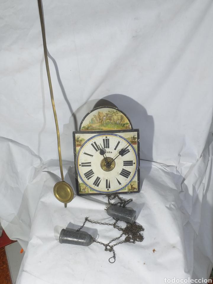 ANTIGUO RELOJ DE PARED CARGA MANUAL TYPO ****RATERA****,MARCA IBERIA PARA RESTAURAR O DESPIECE (Relojes - Pared Carga Manual)
