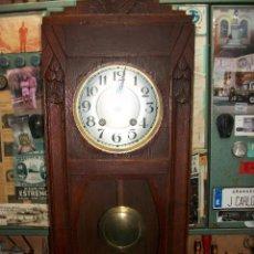 Relojes de pared: ANTIGUO RELOJ FRANCES-FUNCIONA-CON LLAVE. Lote 191794995