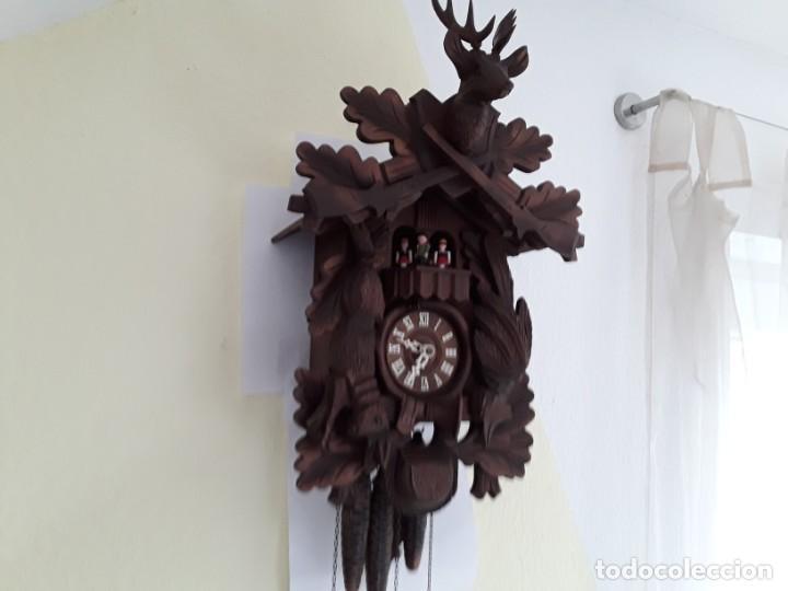 Relojes de pared: Original Reloj de Cuco Selva Negra, Autómata de Música, Figuras movibles, Años 90 - Foto 2 - 192235347