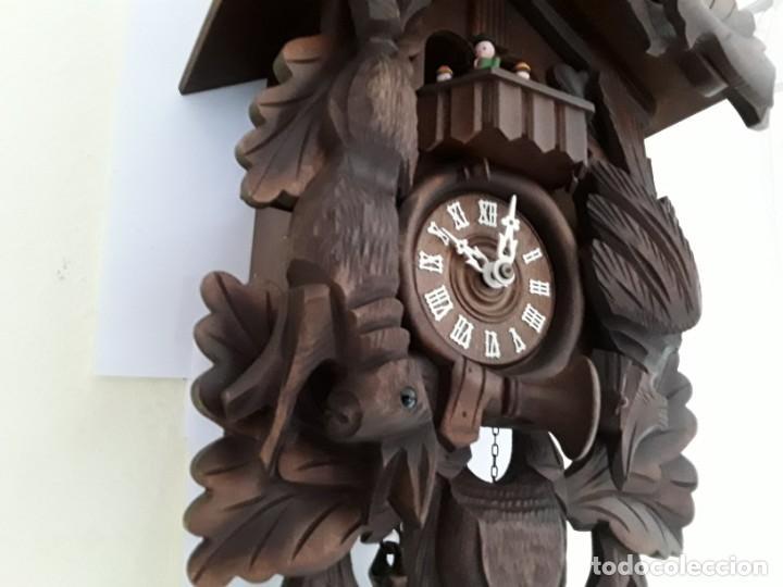 Relojes de pared: Original Reloj de Cuco Selva Negra, Autómata de Música, Figuras movibles, Años 90 - Foto 3 - 192235347