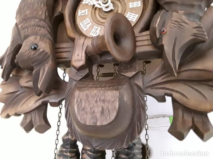 Relojes de pared: Original Reloj de Cuco Selva Negra, Autómata de Música, Figuras movibles, Años 90 - Foto 4 - 192235347