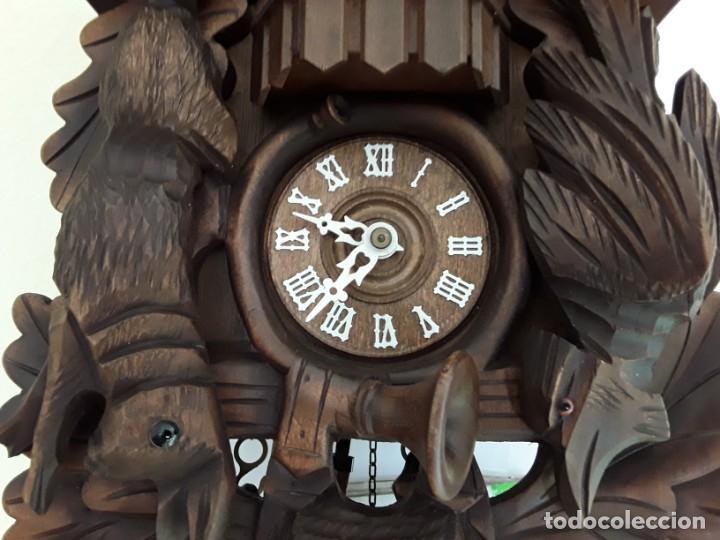 Relojes de pared: Original Reloj de Cuco Selva Negra, Autómata de Música, Figuras movibles, Años 90 - Foto 5 - 192235347