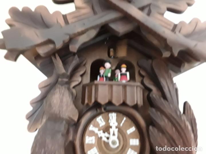 Relojes de pared: Original Reloj de Cuco Selva Negra, Autómata de Música, Figuras movibles, Años 90 - Foto 6 - 192235347