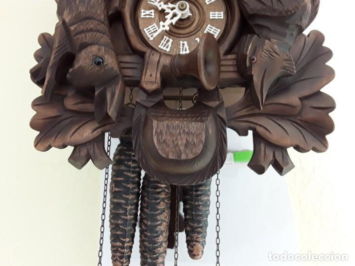 Relojes de pared: Original Reloj de Cuco Selva Negra, Autómata de Música, Figuras movibles, Años 90 - Foto 20 - 192235347