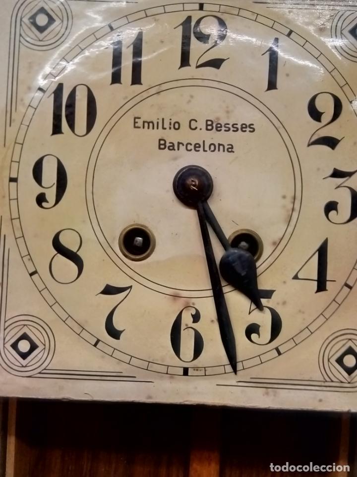 Relojes de pared: ANTIGUO RELOG DE PARED MARCA EMILIO C.BESSES BARCELONA PARA REPARAR - Foto 4 - 192354867