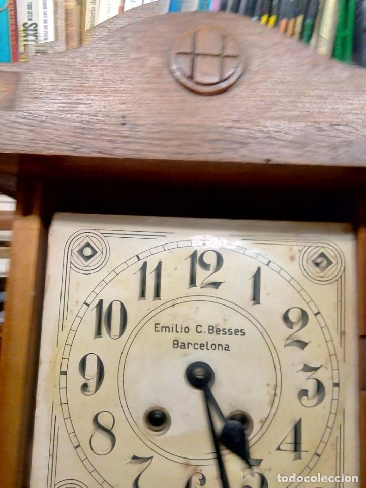 Relojes de pared: ANTIGUO RELOG DE PARED MARCA EMILIO C.BESSES BARCELONA PARA REPARAR - Foto 5 - 192354867