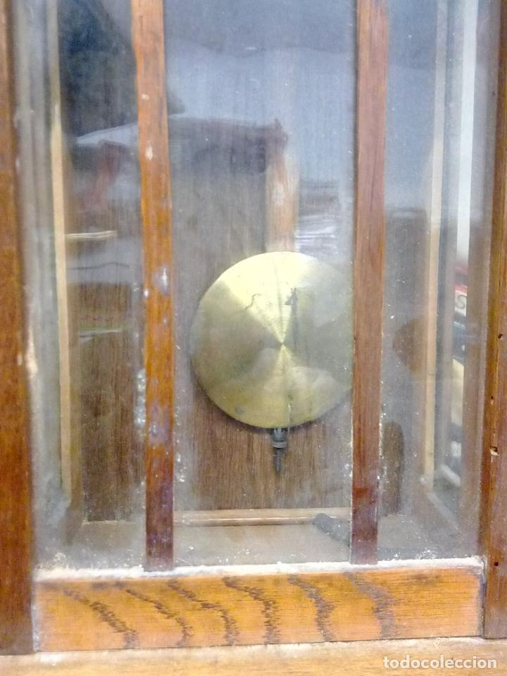 Relojes de pared: ANTIGUO RELOG DE PARED MARCA EMILIO C.BESSES BARCELONA PARA REPARAR - Foto 10 - 192354867