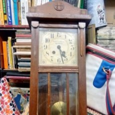 Relojes de pared: ANTIGUO RELOG DE PARED MARCA EMILIO C.BESSES BARCELONA PARA REPARAR. Lote 192354867