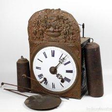 Relojes de pared: RELOJ MOREZ DE 4 CAMPANAS, PÉNDULO, LLAVE Y PESAS. SIGLO XIX. VER FOTOS ANEXAS. Lote 192368066