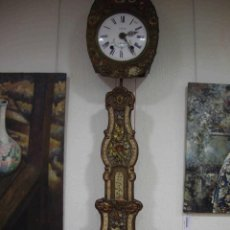 Relojes de pared: RELOJ MONET PENDULO FLORES. Lote 192465072