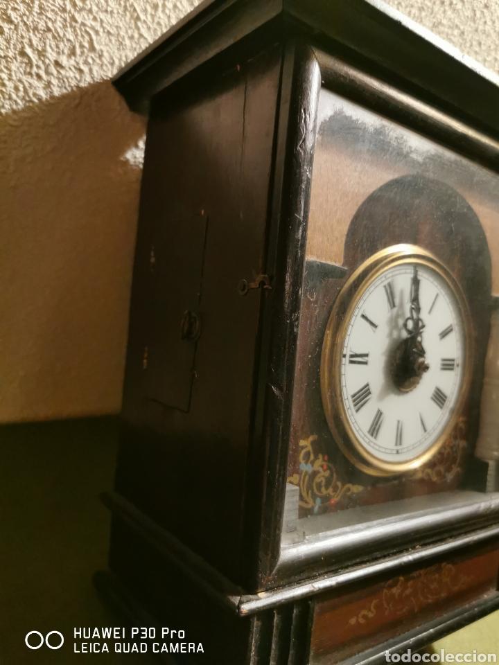 Relojes de pared: Reloj de pared con marquetería - Foto 3 - 192488321