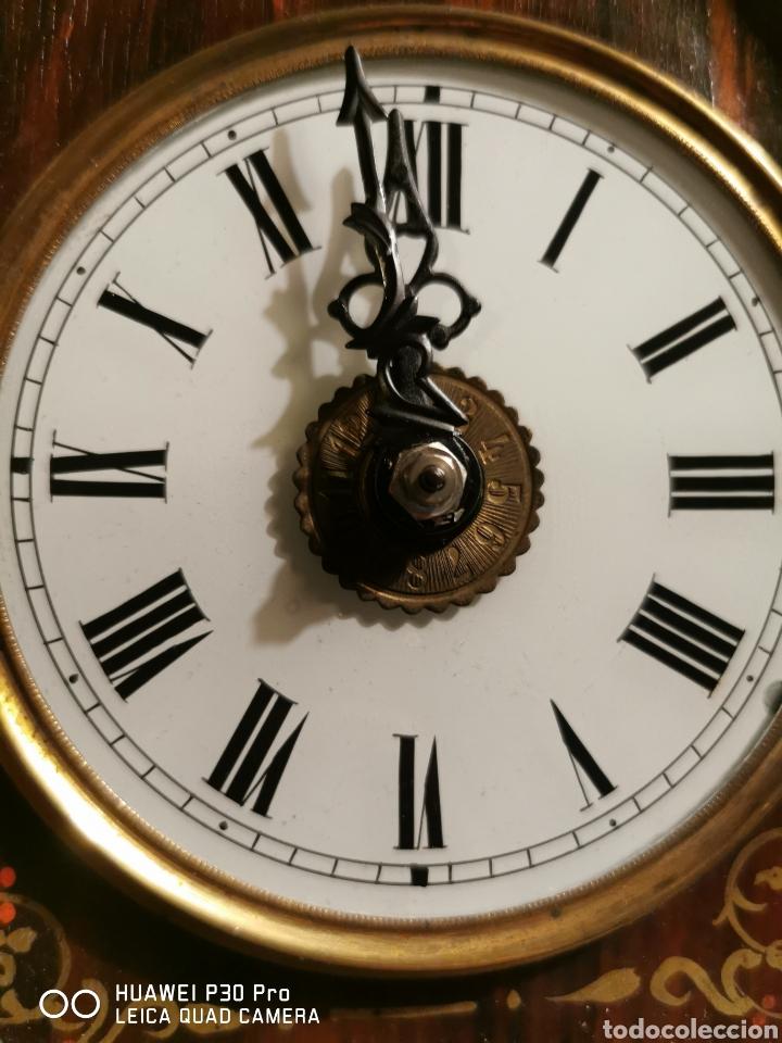 Relojes de pared: Reloj de pared con marquetería - Foto 6 - 192488321