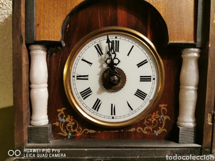 Relojes de pared: Reloj de pared con marquetería - Foto 7 - 192488321